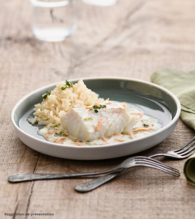 Cabillaud aux petits légumes avec riz - Le Petit Cuisinier