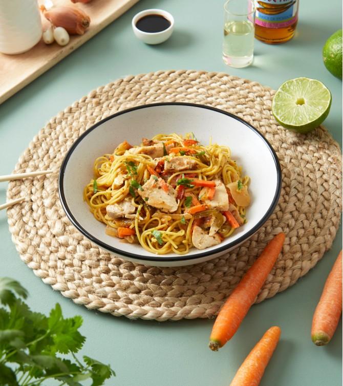 Nouilles asiatiques au poulet Le Petit Cuisinier