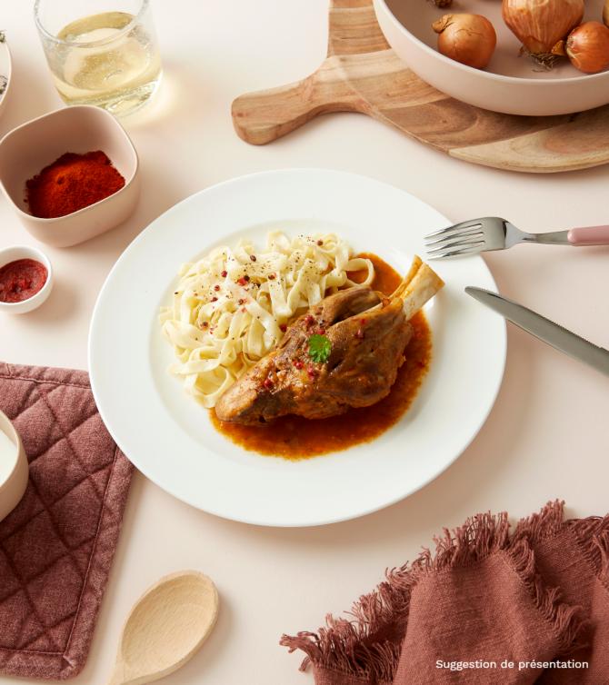 Jarret d'agneau à l'ail et au thym - Le Petit Cuisinier