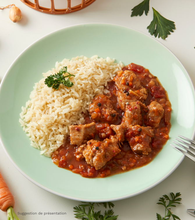 Sauté de veau milanaise et riz - Le Petit Cuisinier