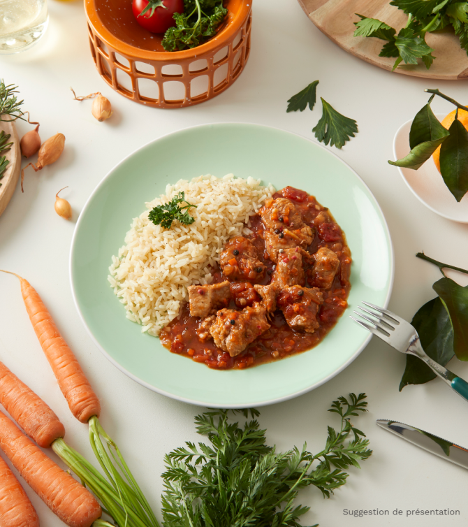 Sauté de veau milanaise et riz- Le Petit Cuisinier