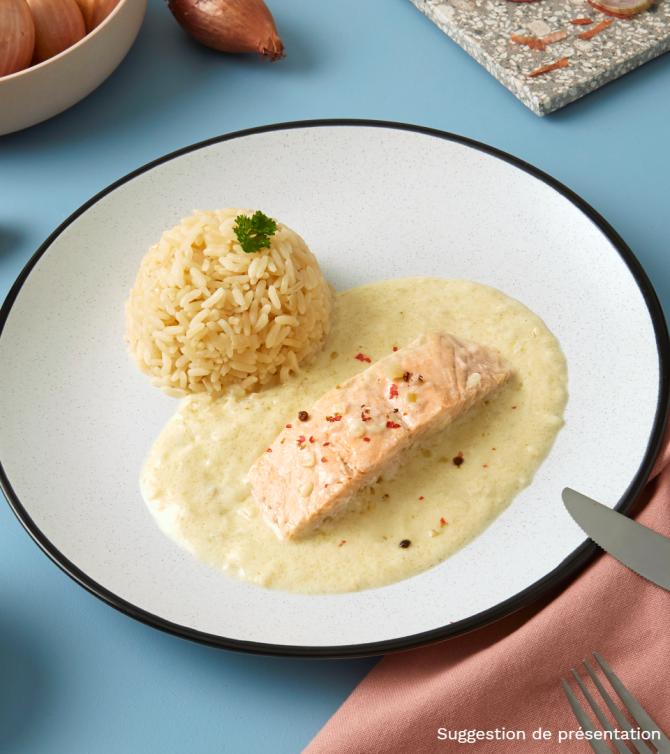 Saumon sauce à l'échalote - Le Petit Cuisinier
