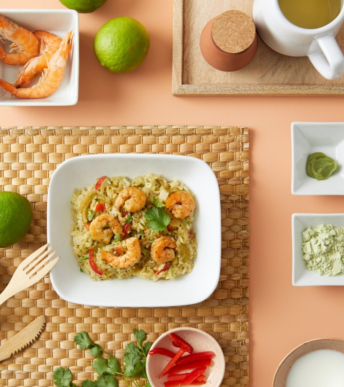 Crevettes de curry et riz - Le Petit Cuisinier