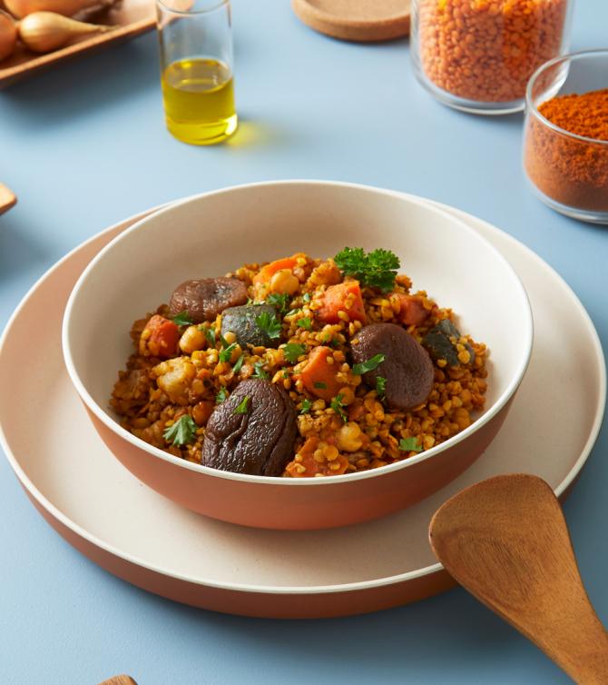 Tajine végétarien aux figues et abricots - Le Petit Cuisinier