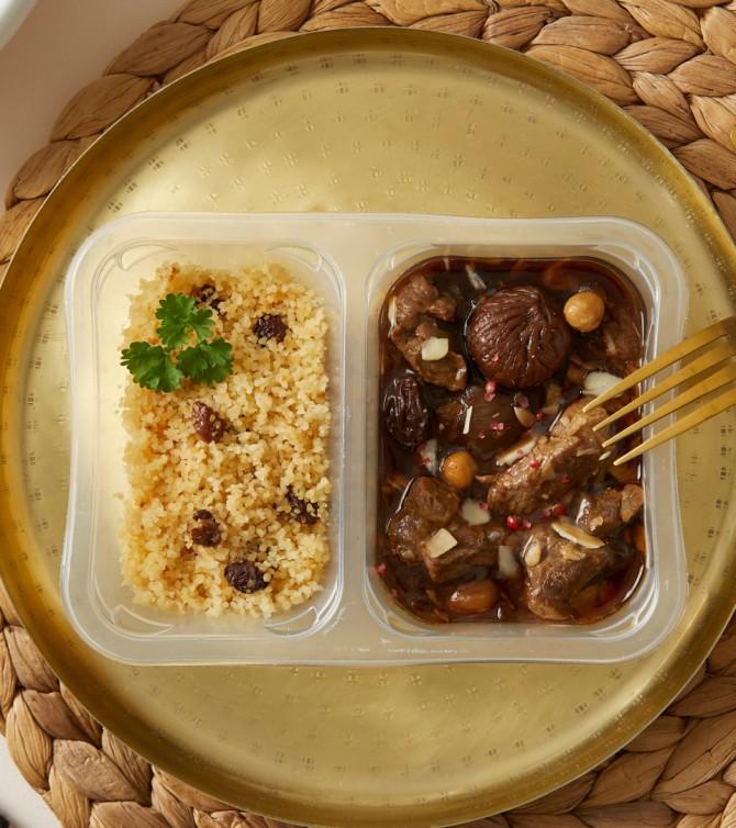 Tajine d'agneau et semoule raisins - Le Petit Cuisinier