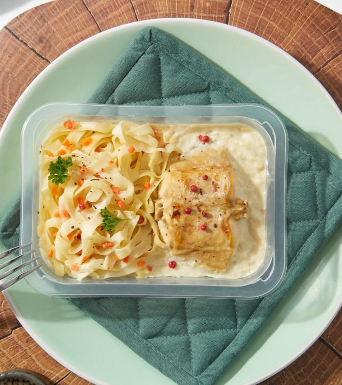 Râble de lapin sauce moutarde et tagliatelles - Le Petit Cuisinier