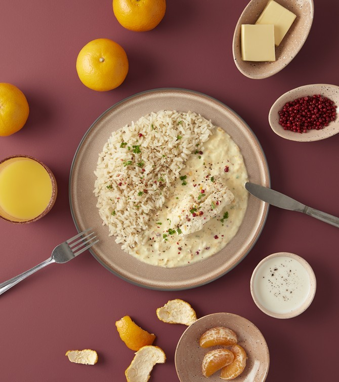 Cabillaud sauce beurre d'agrumes-Le Petit Cuisinier