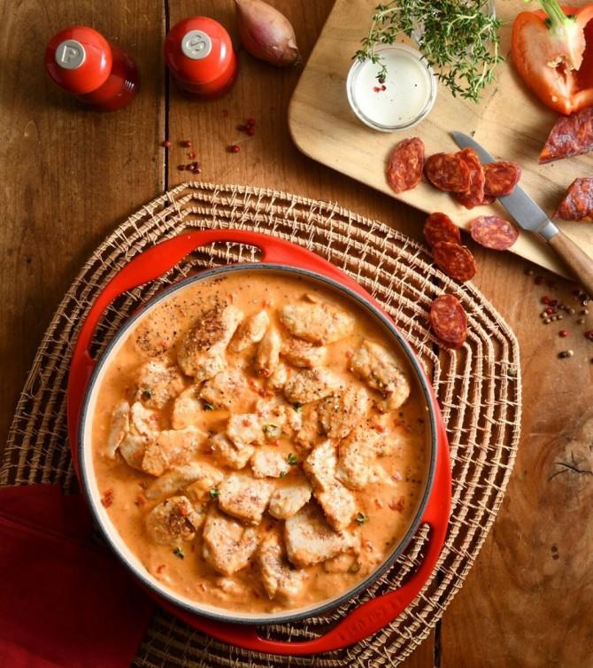 Poulet à la crème de chorizo, poivrons, 4 parts - Le Petit Cuisinier