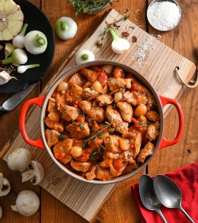 Veau marengo, 4 parts - Le Petit Cuisinier
